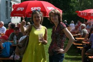 Simone Strohmayr MDL und Ulrike Bahr Vorsitzende der SPD-Augsburg